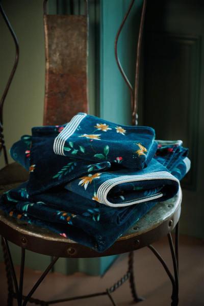 PIP les Fleurs dark blue Gästetuch 30x50cm (Kein Set/ Preis je Stück)