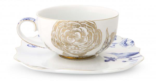 PIP Royal White Cappuccino Tasse mit Untertasse
