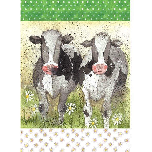 Geschirrtuch Kühe