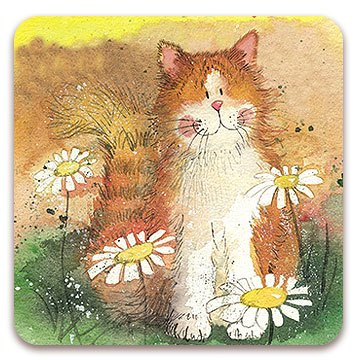Untersetzer Cats and Daisies