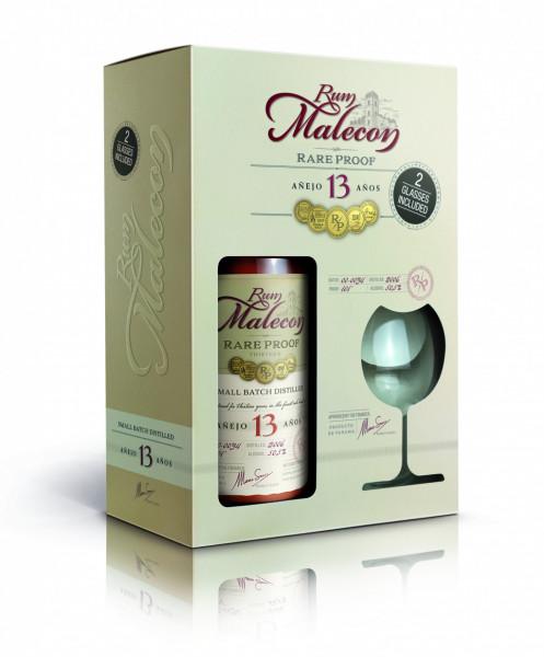 Rum Malecon 13 anos inkl. 2 Gläser