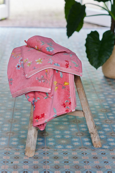 PIP Gästetuch Les Fleurs Pink 30x50