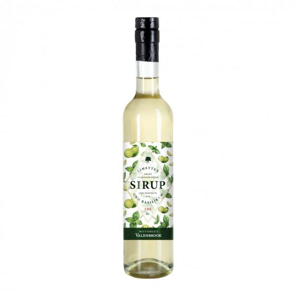 Limette Basilikum Sirup