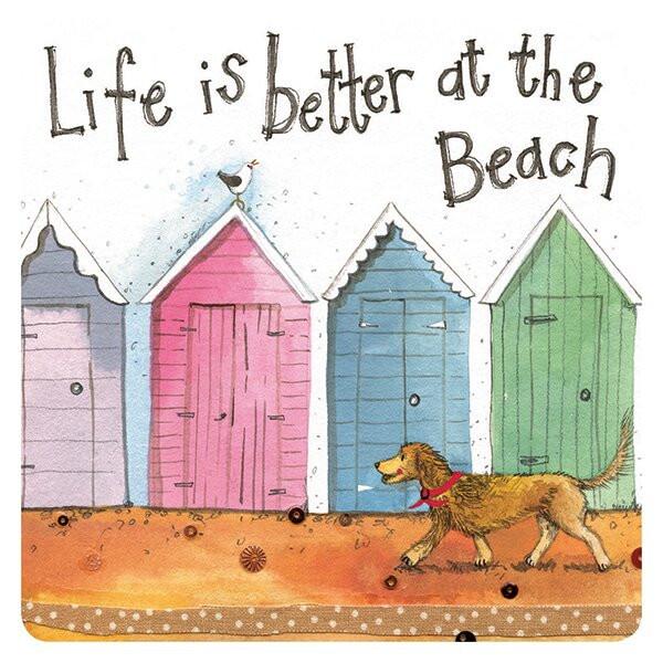 Untersetzer Life is better ath the Beach