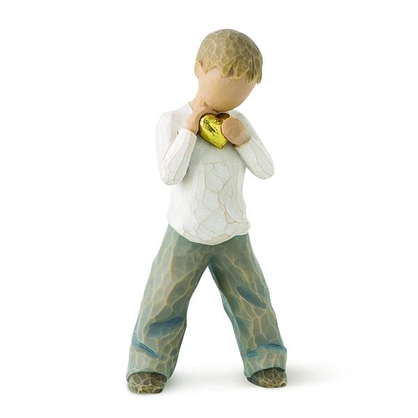 Figur Willow Tree Heart of Gold Boy - Warmherzigkeit