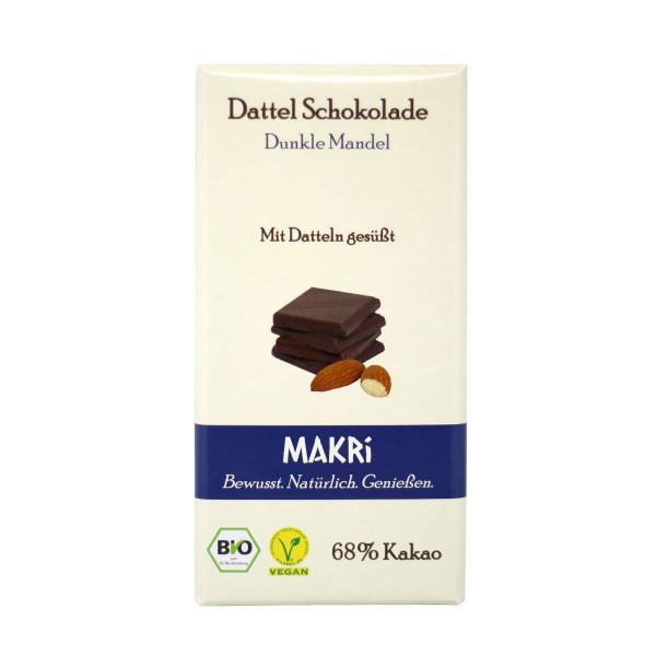 MAKRI dunkle Mandel -Dattelschokolade