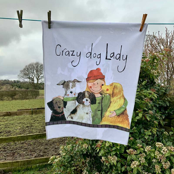 Geschirrtuch Crazy Dog Lady